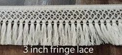 db fringe 3 inch cotton