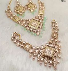 Kundan Fancy Party Wear Necklace Set