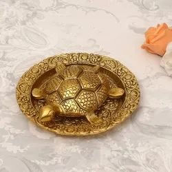 Jaipur Craft Golden Metal Tortoise Plate