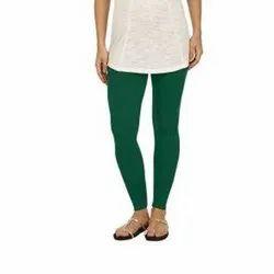 Cotton Plain Ladies Ankle Length Leggings, Size: Free Size