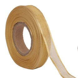 Organza Satin - Mustard Ribbons 25mm/1''inch 20mtr Length