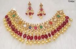Jadau Kundan Necklace Set