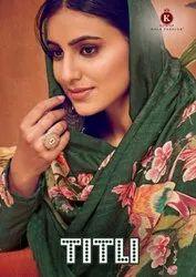 Kala Fashion Titli Digital Printed Pashmina Dress Material Catalog