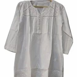 Ladies Lucknowi Chikan Tunic Top