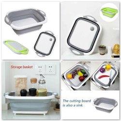 Deep Tech Single Vegetable Chopping Cum Wash Sink