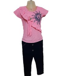 Girls Half Sleeves Top With Pant
