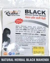 Radhe Natural Herbal Black Mehandi, For Personal, Parlour, Packaging Size: 30 Gm