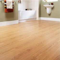 Brown Matte PVC Flooring, For Residential, Thickness: 8 Mm