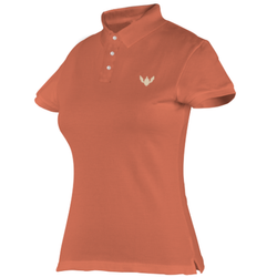 Women Deep Apricot Tailor Made Polo T Shirt