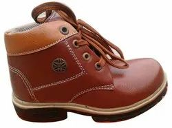 Kids Brown Rexine Shoes, Size: 7-10 Uk