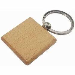 Image Wooden Keychain, Shape: Square