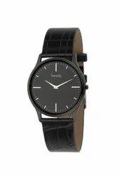 Round Analog Bezelo Mens Black Wrist Watches
