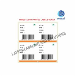Multicolor Printed Label