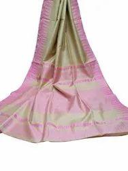 Party Wear Plain Ladies Designer Cotton Silk Saree, 6.3 m (with blouse piece)
