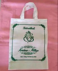 White Printed Promotional Jute Bag