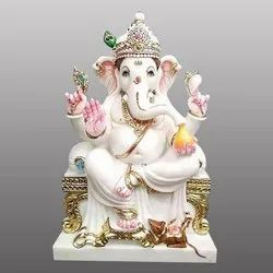 Lord Ganesh ji Special White Marble Statue