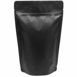 Matte Finishing Black Stand Up Pouch 7X10 Inches With Zip Lock