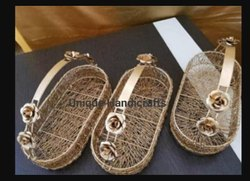 Iron Brown Colored Gift Hamper Basket