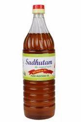 Black Expeller Sadhutam Pure Mustard Oil, Packaging Type: Plastic Bottle, Packaging Size: 1 litre