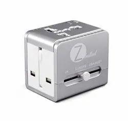 2 Usb 24VDC Universal Travel Adapter, Model Name/Number: ZLD-01