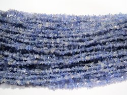 Natural Tanzanite Semi Precious Stone Chip Bead Strands