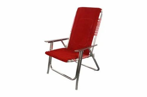 Paint Coated Red Folding Chair, Size: Standard