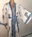Printed Pure Cotton Ladies Kimono Robe