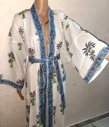 Pure Cotton Ladies Kimono Robe