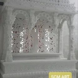 White Designer Marble Stone Temple, For Outdoor, Size: 5 X 3 Feet