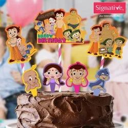 Multicolor Paper Chhota Bheem Cake Decora, Packaging Type: Packet