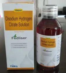 Disodium Hydrogen Citrate Oral Solution With Monocarton
