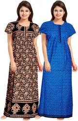 Full Length Cotton Ladies Night Dress, Free Size