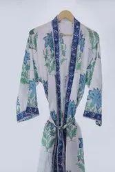 Hand Block Printed Kimono Dress