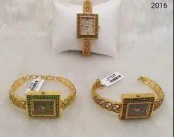American Diamond Stone Square Watch