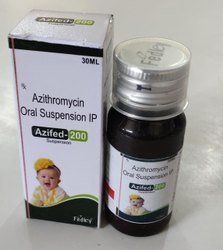 Azithromycin 200mg/5ml  Suspension  With Mono Carton