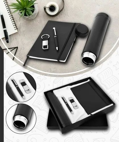 GIFT SET DIARY WITH BOTTLE PEN AND KEYCHAIN