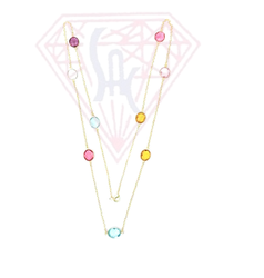 Multi Stone Handmade Necklace Set For Women Or Girls