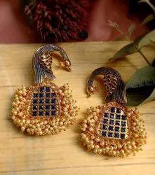 Danglers Gold Plated Fashion Earring NSH