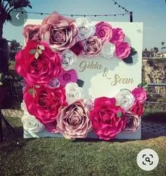 Gaint Paper Flowers Stage Decorations Services