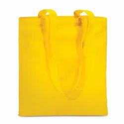 Loop Handled Yellow Cotton Handmade Bag