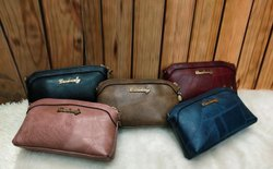 None Brand Pu Leather Sling Bag, Size: 8x5