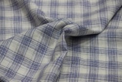 58 Inch Check Linen Shirting Fabric