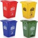 Plastic Dustbin With Wheels And Pedal