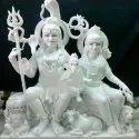 Lord Gauri Shankar White Marble Statue