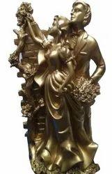 Decorative Golden Married Couple Showpiece