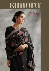 Kimora Fitoor Chinnon Chiffon With Jaal Embroidery And Border Salwar Kameez Catalog