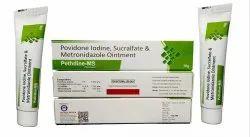 Povidone Iodine 5.0%W/w Sucralfate 7.0%W/w Metronidazole 1.0%W/w Pethdine-MS