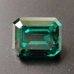 Green Color Emerald Cut Loose Moissanite For Jewelry
