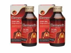 Elements Cof Nil Cough Syrup, Grade Standard: Medicine Grade, Packaging Size: 100 Ml