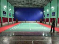 Green Matte Synthetic Indoor Sports Badminton Court Flooring, Thickness: 4.5mm